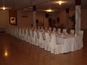 naša budúca miestnosť pre svadobnú hostinu