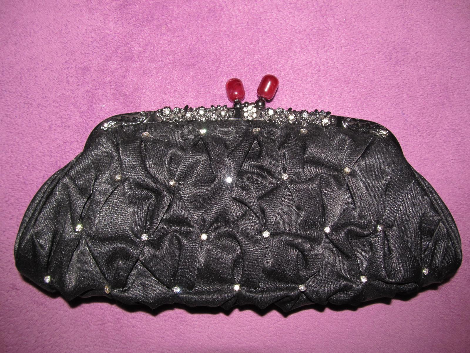čierna príležitostná kabelka - Obrázok č. 1
