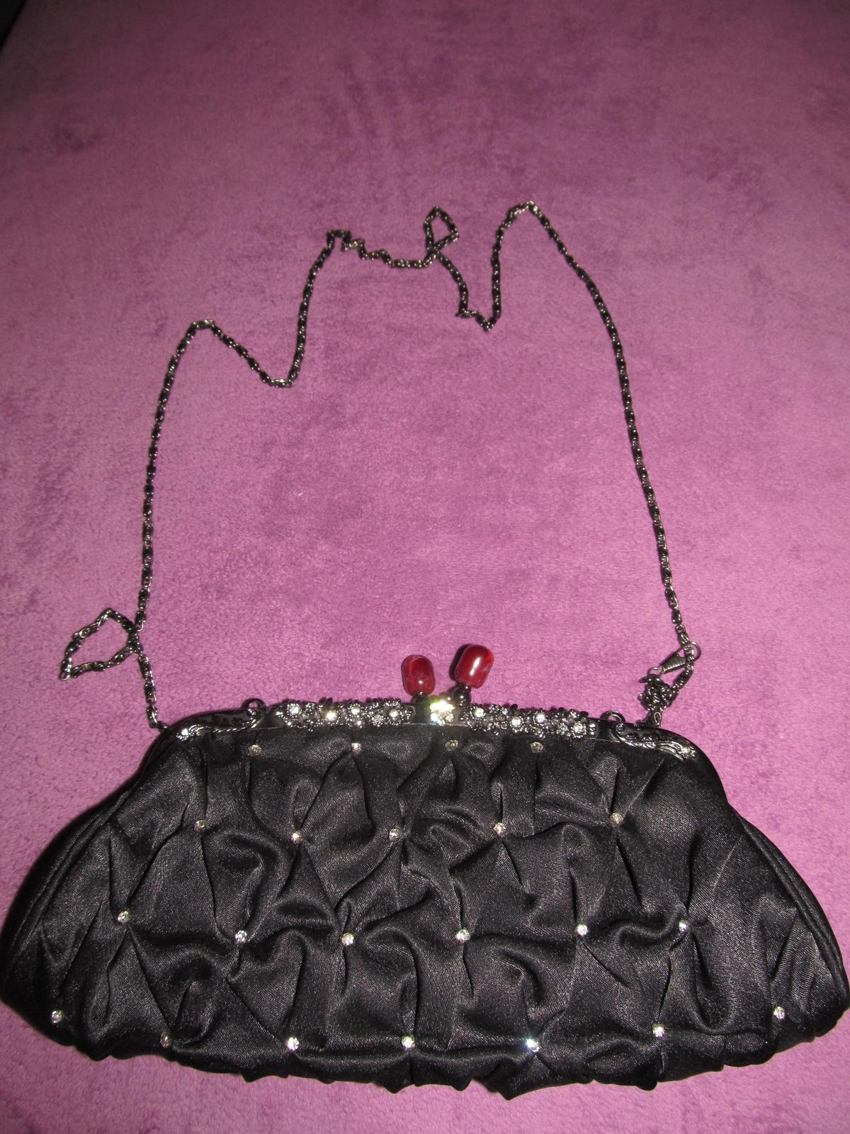 čierna príležitostná kabelka - Obrázok č. 2