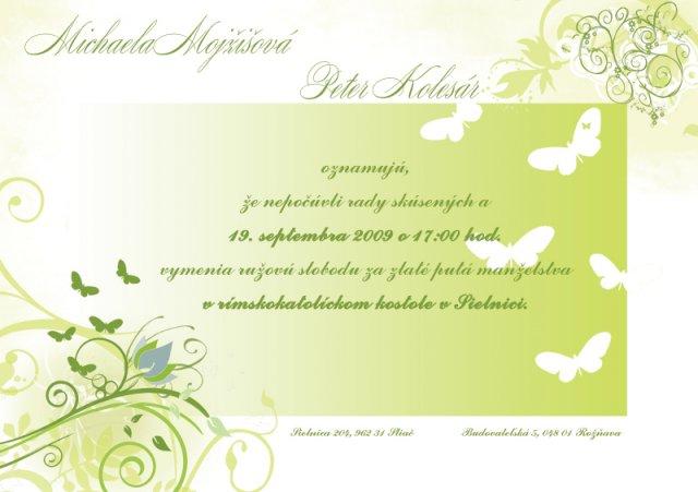 Zeleno-biela - nase oznamenie