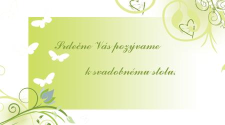 Zeleno-biela - a pozvanka k stolu