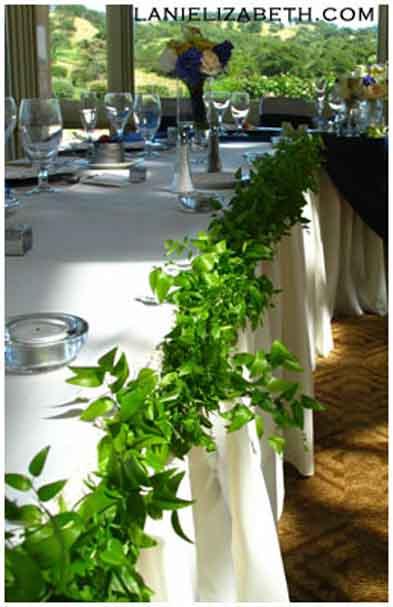 Zeleno-biela - hlavny stol