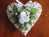 Srdiečko s malými ružičkami - rôzne farby,