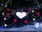 Č. 4 výzdoba na auto so srdcom a guličkami ,