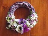 Venček s fialkovými kvetmi - rôzne farby,