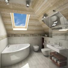 Inspirace pro podkrovní koupelnu