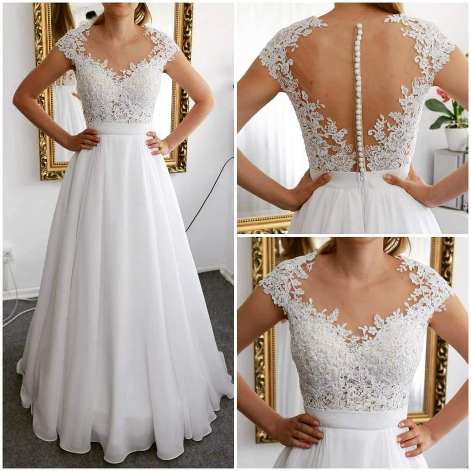Svadobné šaty, zn. Natasha Azariy, veľkosť 34/36 - Obrázok č. 1