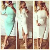 Uplé, bílé šaty se zipem na zádech., 38
