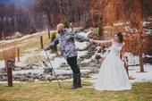 Svadobné saténové šaty veľkosť 34-38, 36