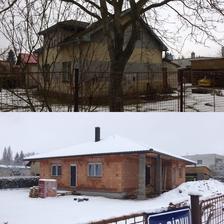 Únor 2018 -srovnávací fotka - únor 2017 x únor 2018
