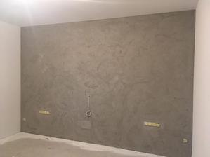 říjen 2018 - betonová stěrka v ložnici