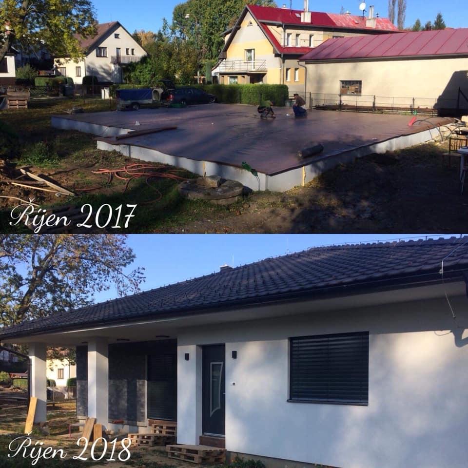 Stavíme si náš sen - Říjen 2018 - srovnávací fotka