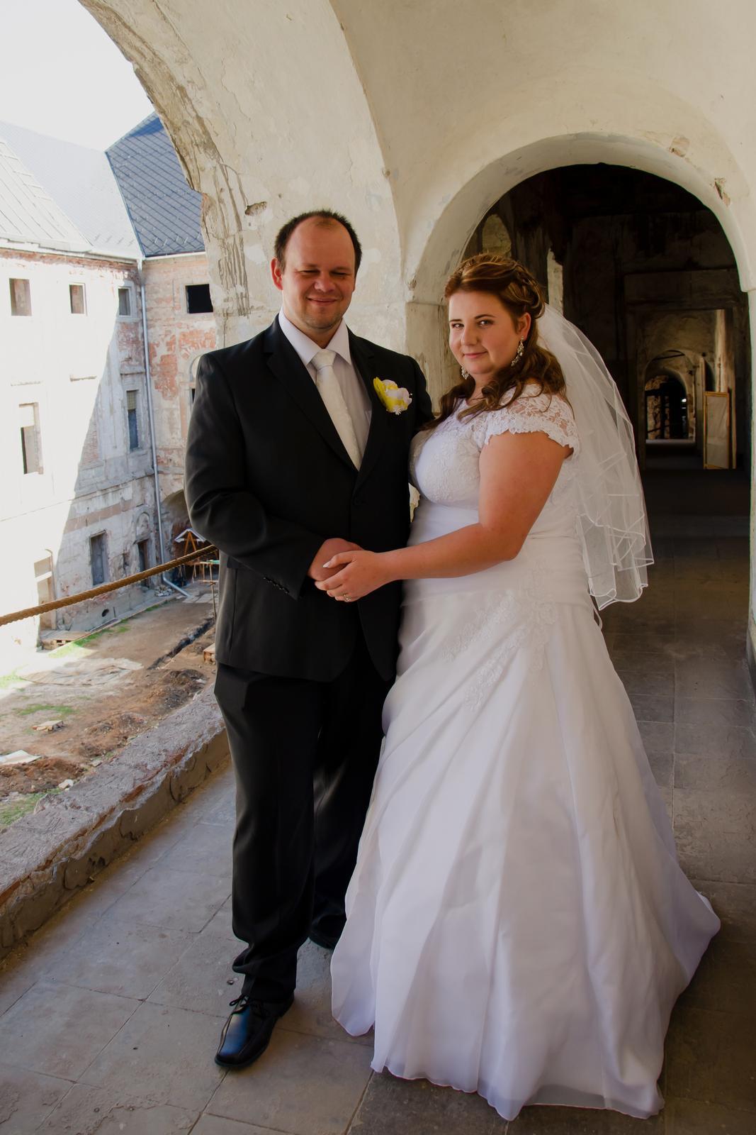 Svadobné šaty pre moletku 48-50-52 - Obrázok č. 3