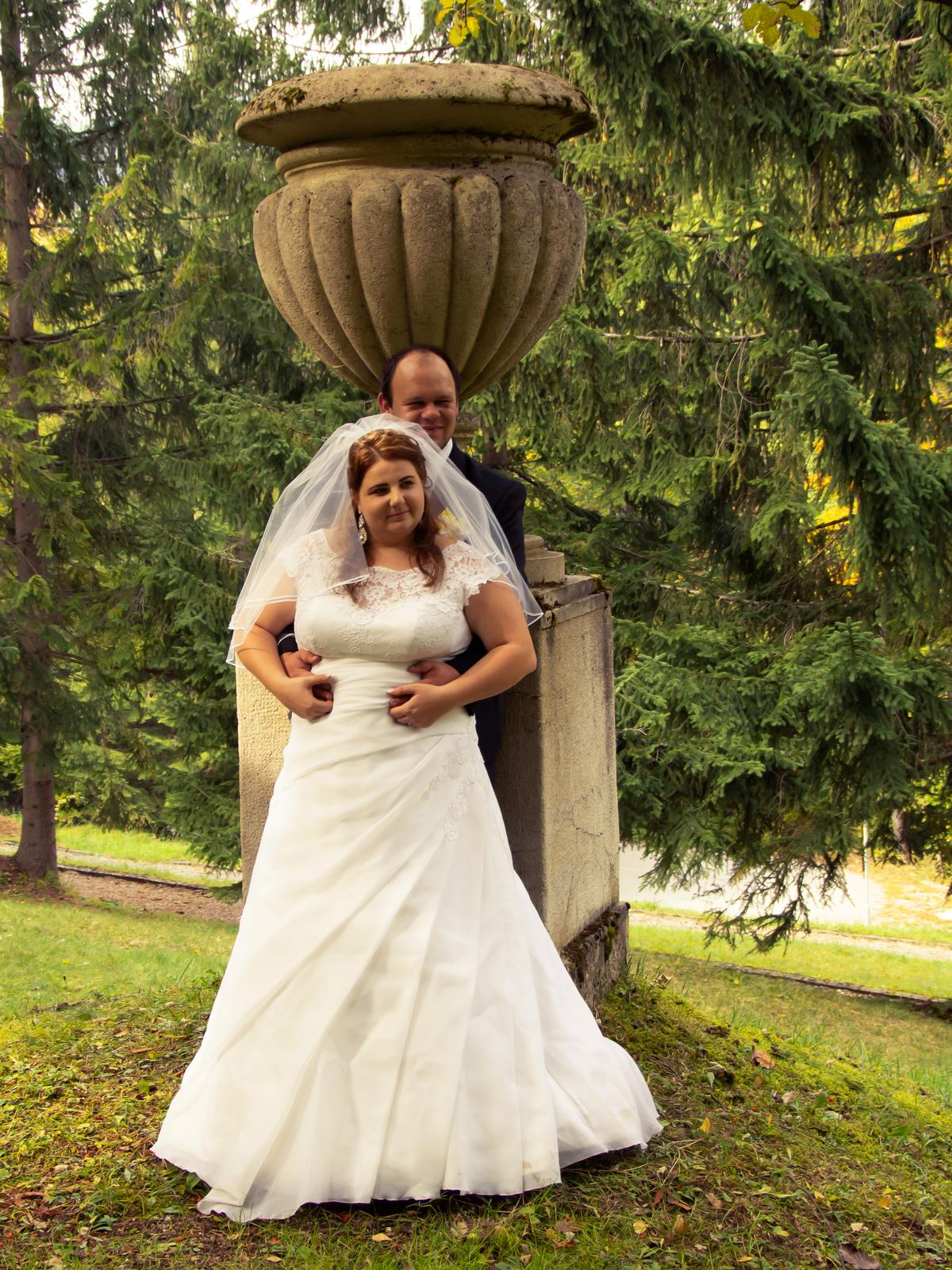 Svadobné šaty pre moletku 48-50-52 - Obrázok č. 1