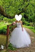 Luxusní princeznovské svatební šaty vel. 36-40 , 38