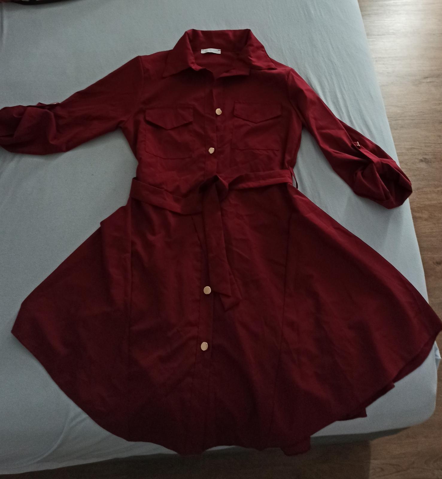 Bordó šaty - Obrázek č. 1