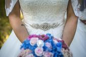 Prekrásne jedinečné svadobné šaty, 38