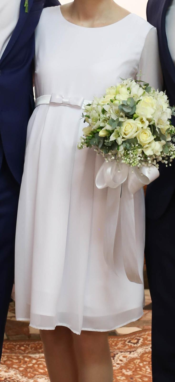 Tehotenské svadobné šaty veľ. XS/S - Obrázok č. 2