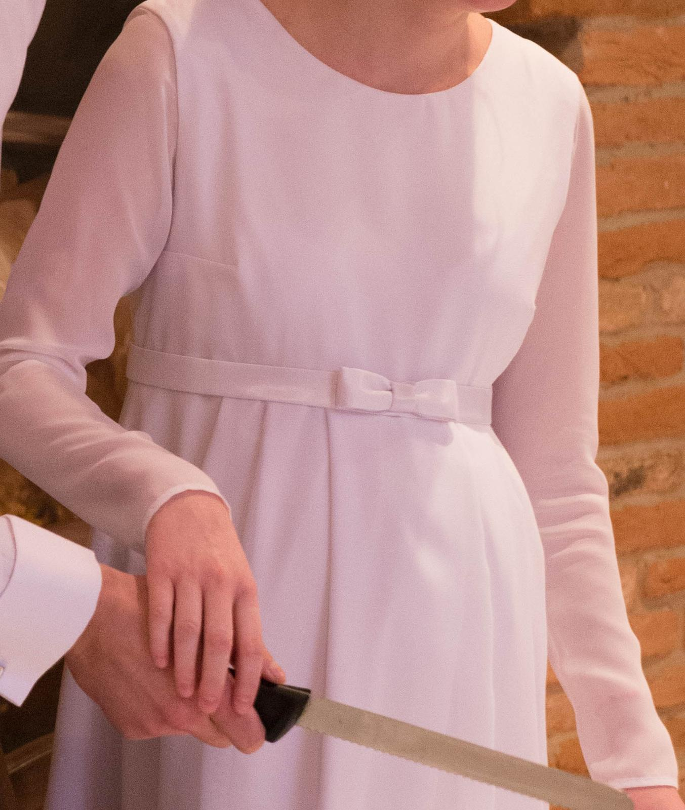 Tehotenské svadobné šaty veľ. XS/S - Obrázok č. 4