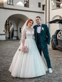 Nádherné svadobné šaty , 40