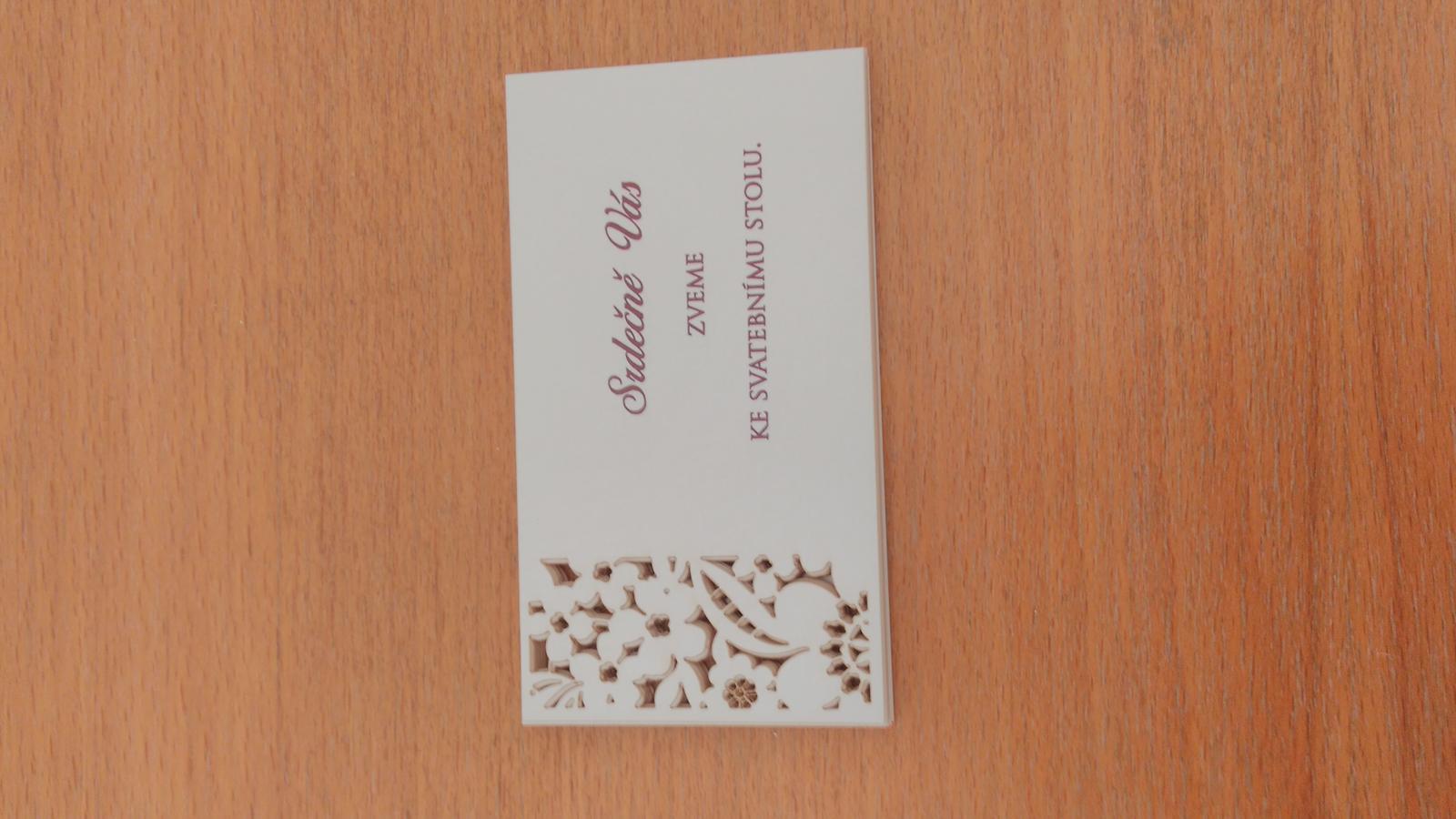 pozvánky ke svatebnímu stolu, 13x   (6,2Kč/ks.) - Obrázek č. 1