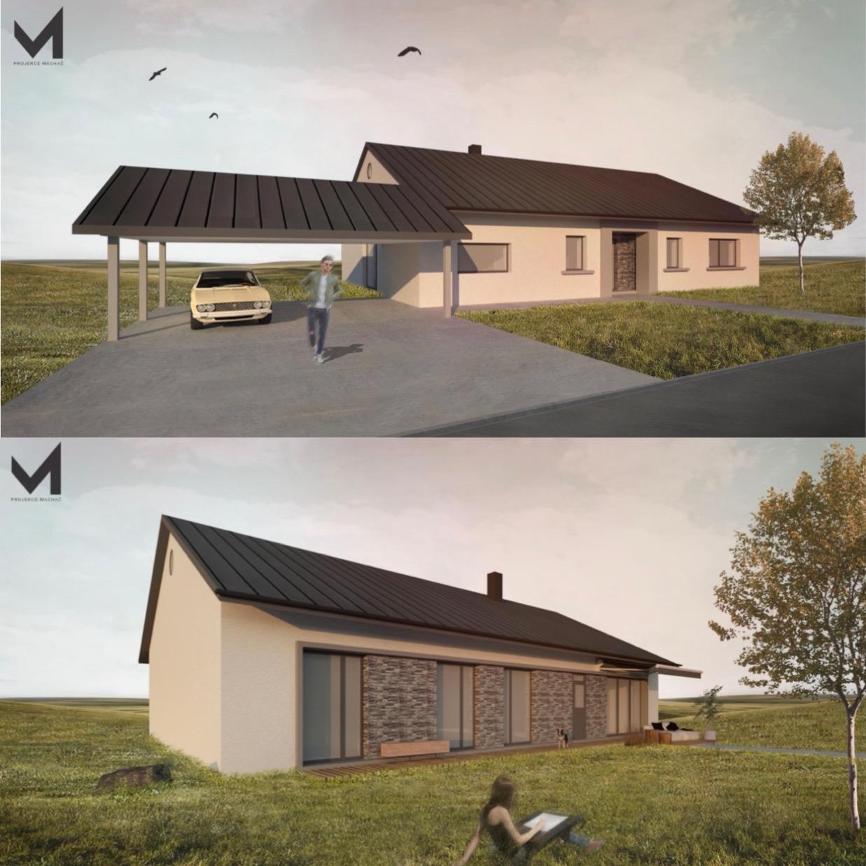 Začátek našeho vysněného bydlení🏡 - 3D vizualizace našeho domečku. :)