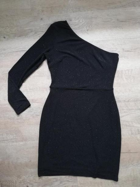 elegantné šaty H&M na jedno rameno, M - Obrázok č. 1