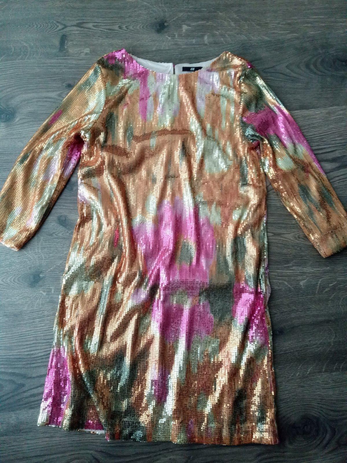 Flitrované elegantné mini šaty H&M, M - Obrázok č. 1