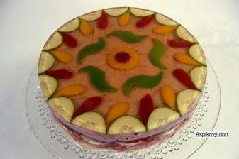 úžasný aspikový dort od firmy lahůdky budějovická s. r. o.