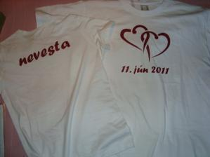 Naše popolnočné úúžasné tričká presne podľa nášho želania  :-)