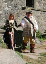 Na hradě na nás čekal pán hradu Vilém z Pernštejna s chotí.