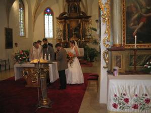 Podpisy v kostele