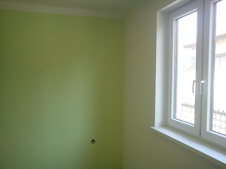 Tu bývame - vybojovana zeleno-biela spalna :)