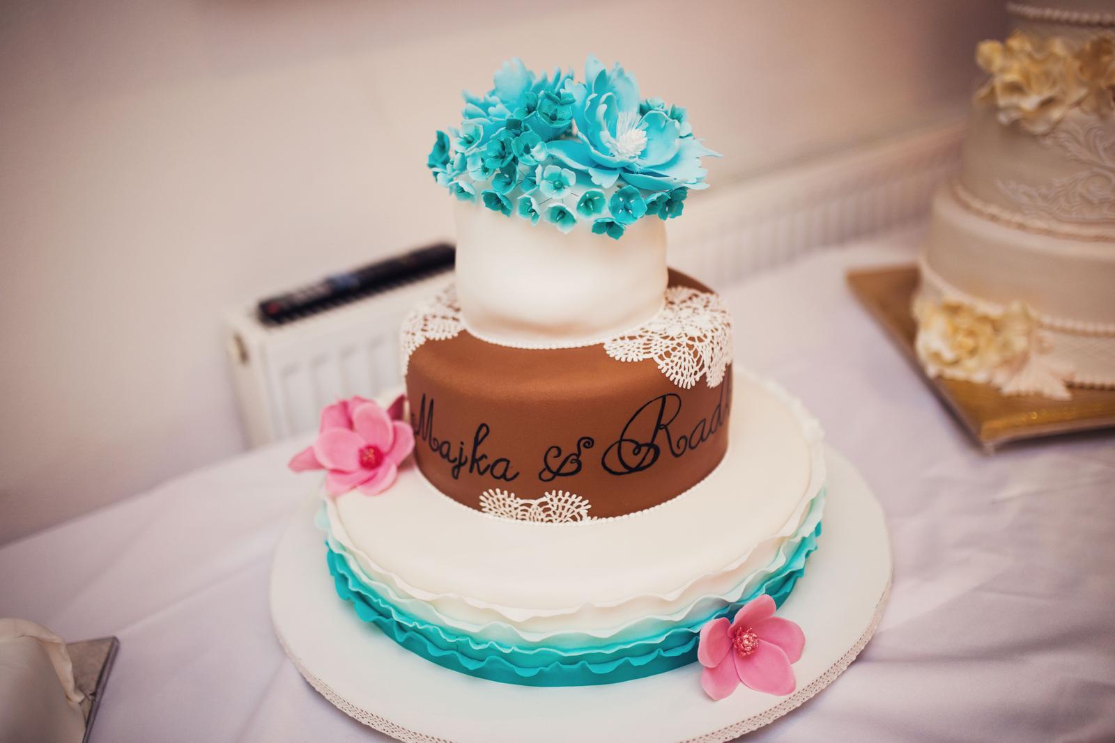 M{{_AND_}}R - Nasa hlavna torta :) vrchne poschodie je odlozene na 1 vyrocie :)