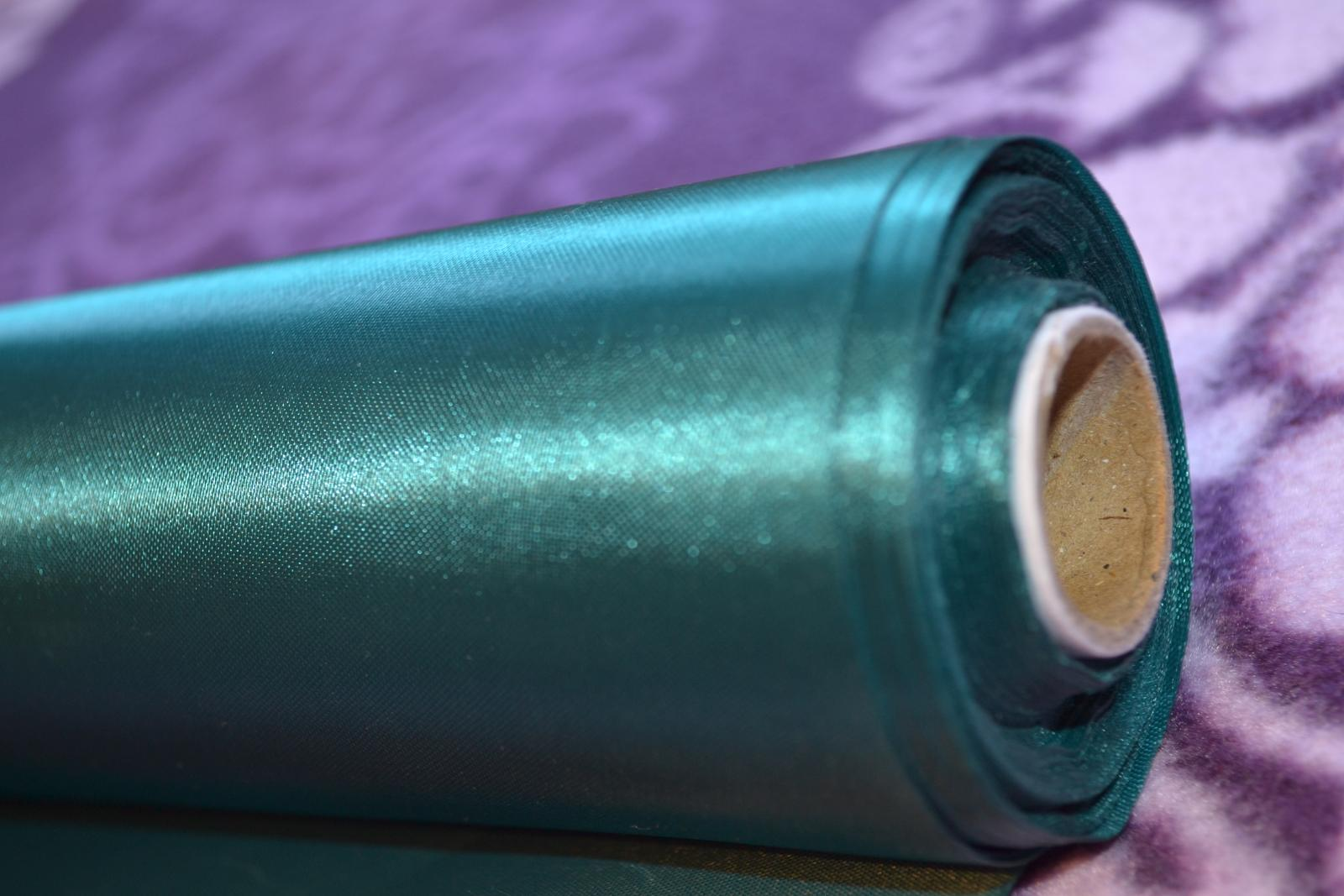 Smaragdové satenove stuhy 29cm x 20 m - Obrázok č. 1