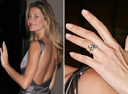 Slavné zásnubní prsteny - Gisele Bündchen