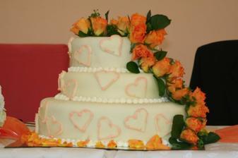 svadobná torta - nielen dobre vyzerajúca, ale aj veeeeeľmi chutná