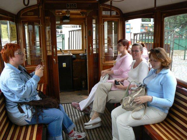 Sraz beremese 12. srpna 2006 - takhle to vypadalo uvnitř tramvaje