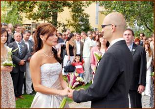 při manželském slibu