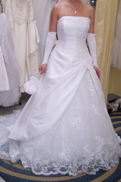 """Deň """"D"""" 25.08.2007 - moje šaty na mne, ešte neupravené :-)"""