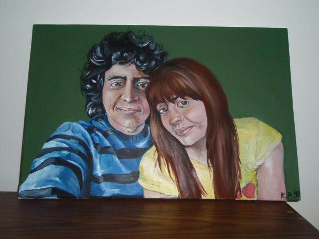 Dcerine malby- - dcera malovala seba a brata:)