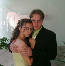 s mojím snúbencom Mirkom na mojej promócií