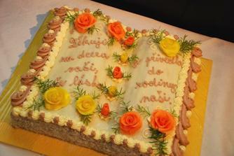 náš dortík pro maminku nevěsty