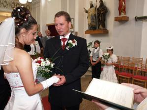 Novomanželský slib v podání ženicha