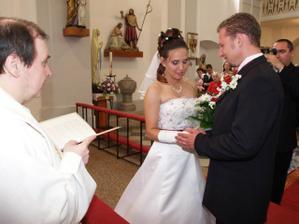 Novomanželský slib v podání nevěsty