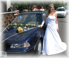 svatební autí pro nevěstu