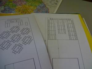 nákresy stolů-možnosti umístění do stanu..