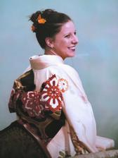 moje kimono ze zezadu s mašlí