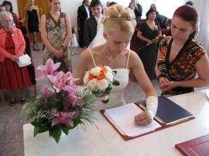 nový podpis nevěsty