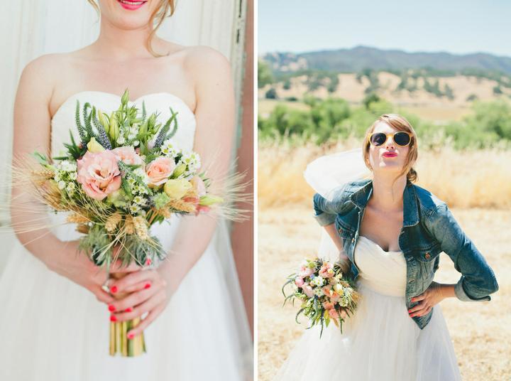 MY wedding in peony and peach - nápad s džískou a pičutkama se mě fakt moc líbí (aspoň na focení) - je to takové prázdninové a trochu retro :)